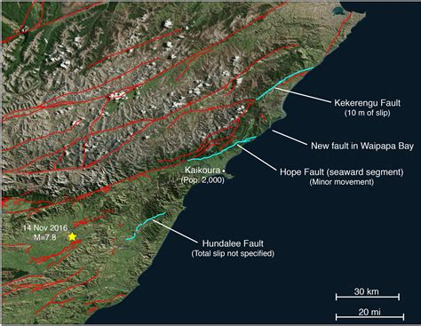 earthquake fault 14 november 2016 mw 7 8 new zealand earthquake shows an