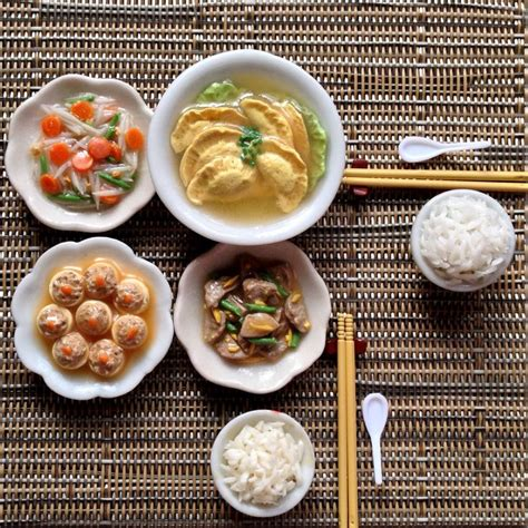 asian dinner 317 best images about miniature food on