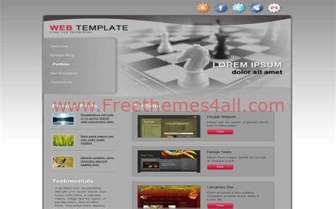 Abstract Grey Chess Css Template Download Css Site Templates