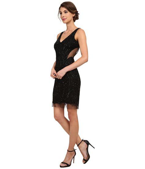 beaded black dress papell fully beaded halter cocktail dress in