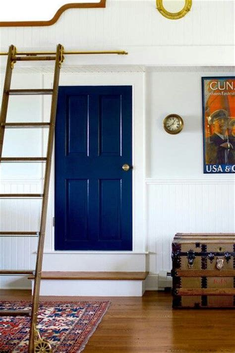 navy blue door interior door painted navy blue paint colors pinterest