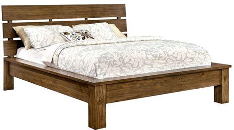 reclaimed wood king bed roraima reclaimed pine wood king bed cm7251ek furniture of america