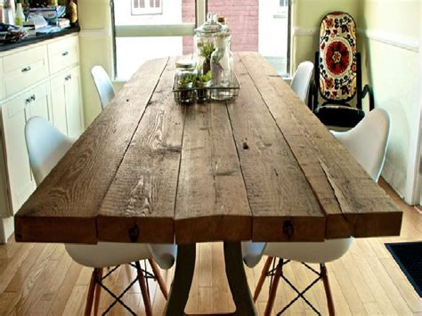 image reclaimed wood dining room table