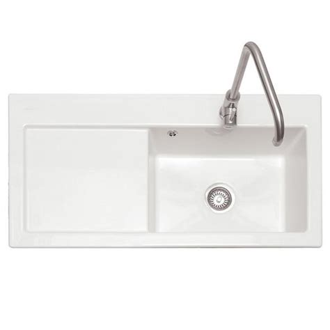 caple sandown ceramic twin bowl kitchen sink caple cpk500 avalon 100 white ceramic inset sink with