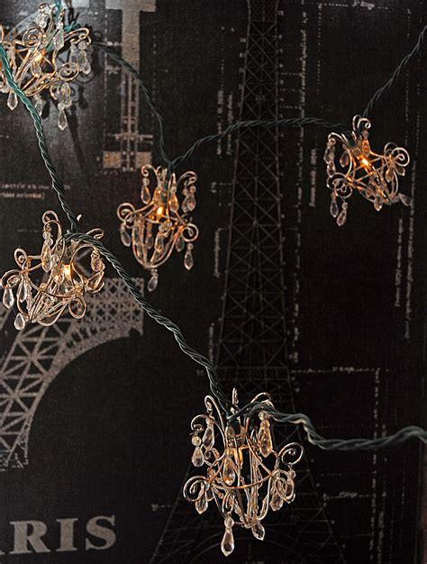 Chandelier String Lights Mini Acrylic Crystal Chandelier String Lights 16ft