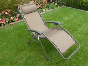 set of 2 brown multi position garden recliner relaxer