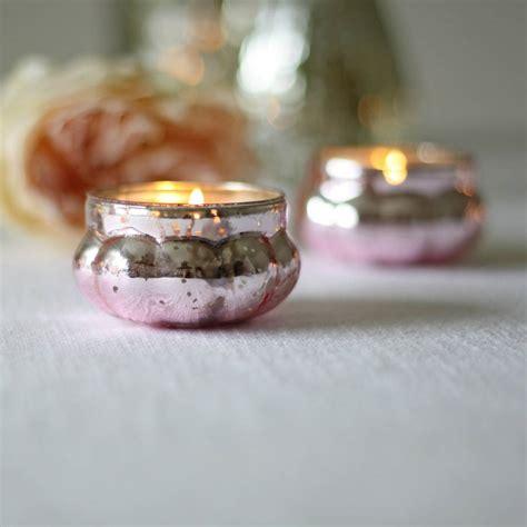 mercury tea light holders mini mercury pink tea light holder by the wedding of my