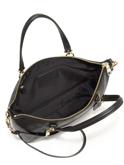 Coach Pabbled Leather Tote coach pebbled leather prairie tote in black