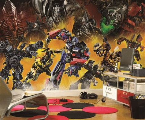 Transformers Theme Boys Room Wall Murals My Son Would | 1000 images about kids room on pinterest closet space