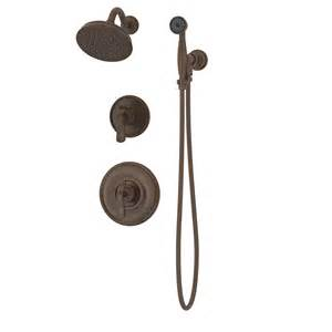 shower faucet with valve shop symmons winslet rubbed bronze 2 handle commercial