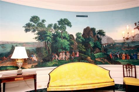 white house diplomatic room are wall murals still popular