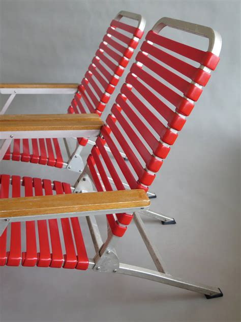 folding aluminum chaise lounge a pair of aluminum folding chaise lounges from ss united