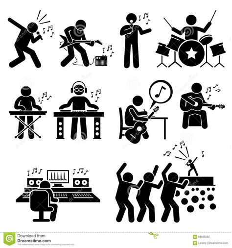 clipart strumenti musicali rock musician artist with musical instruments
