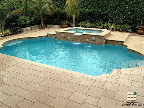 pool paver ideas shellock atlantic series pavers and coping in the color