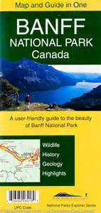 detailed map and guide of banff national park gem trek