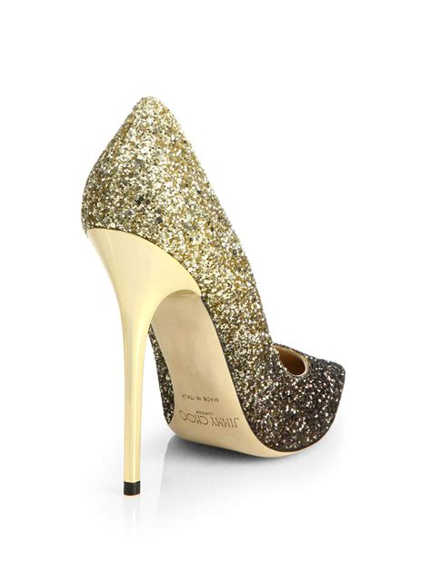 Glitter And Glamourous Gold Nami Style Normal And Gold Se jimmy choo anouk 120 glitter degrade pumps in metallic lyst
