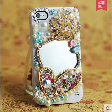 Luxury Fashion Rhinestone Crown Pearl Bling Casecassingcasing Iphone cool luxury bling rhinestone flower mirror glitter crown pearl plastic phone flower cover