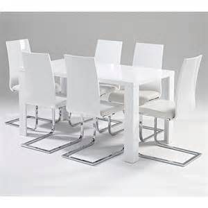 Dining Table With White Chairs White Gloss Dining Table And Chairs Marceladick