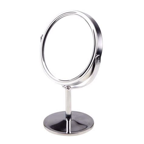 desk mirror with stand round oval shape cartoon women lady home use mirror