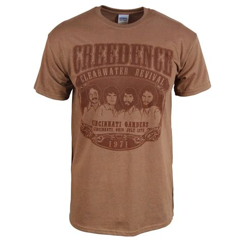 t shirts mens retro creedence clearwater revival 1971 rock t shirt