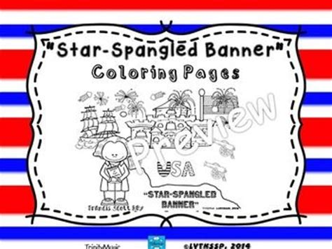 coloring page of the star spangled banner star spangled banner coloring pages