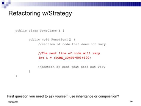 strategy pattern unit test strategy and template pattern