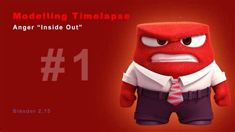 Boneka Inside Out Anger New modelling timelapse anger inside out blendernation