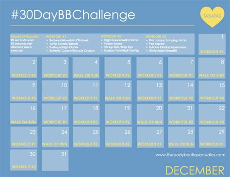 Calendar When Did It Start 94 Best 30 Day Challenges Images On Fitness