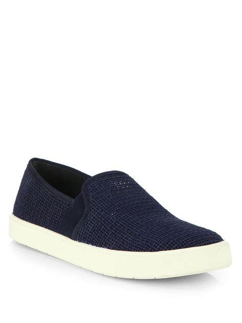 vince shoes vince berlin1 calf hair skate shoes in blue navy lyst
