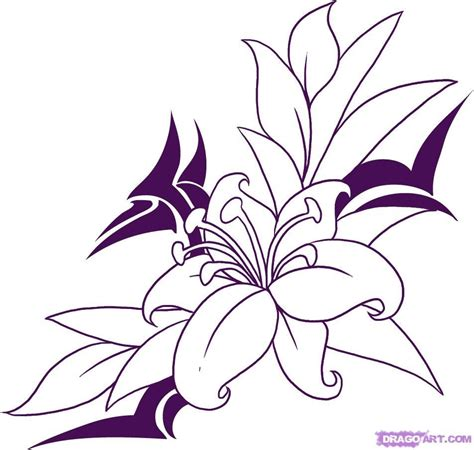 Drawing Flowers by How To Draw Flower Search Crafts And Such