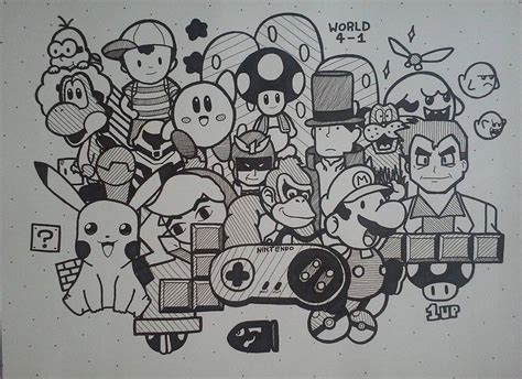 how to draw doodle doodle 12 nintendo by senpiewastaken on deviantart