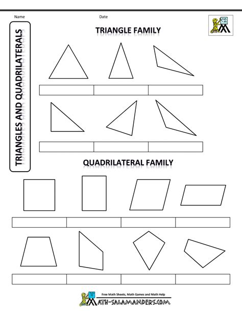 quadrilateral flashcards printable printable shapes 2d and 3d
