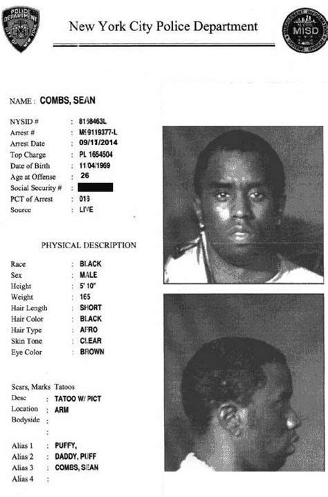 2pac Criminal Record Bad Boy C E O Combs Arrested In Connection