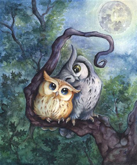 owl lovers bild eulen eule vogel v 246 gel von kiriokami bei kunstnet