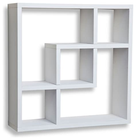 square shelves wall shop houzz danya b geometric square wall shelf with 5