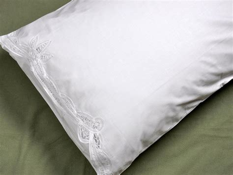 Battenburg Lace Pillow Shams by Pair Of White Battenburg Lace Pillowcases