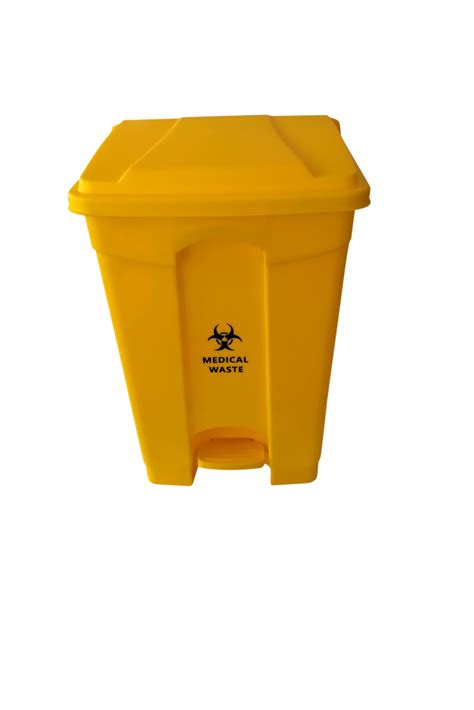 yellow medical clinical waste pedal bin hospeco australia