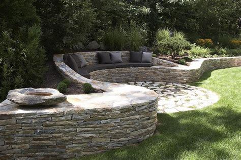 retaining wall bench retaining wall bench seating backyard designs pinterest