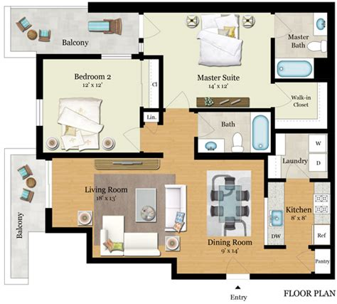 Floor Plan Elements by Residence E Element 436
