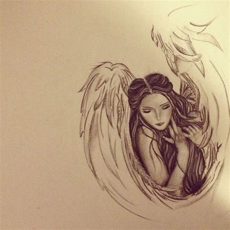 tattoo sketch angel angel drawing angels and wings pinterest