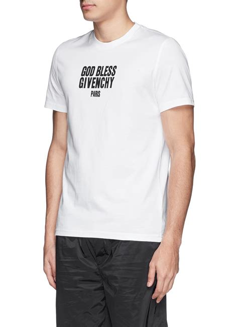 Kaosbajut Shirt Godbless 1 lyst givenchy god bless print cotton t shirt in white for