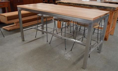 Stainless Steel Bar Table Marri Jarrah Wa Blackbutt Or American Black Walnut Dune Cellar Bar Table Wa Made General