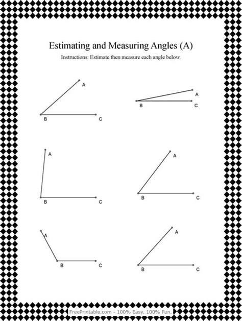 free printable protractor worksheets measuring angles worksheet