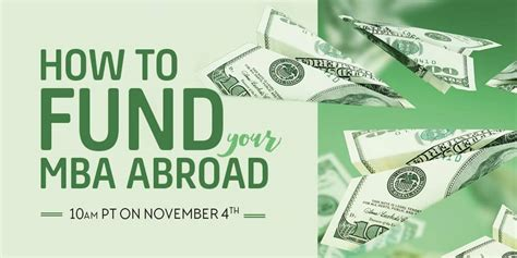 Fund An Mba live webinar tomorrow on funding your mba abroad