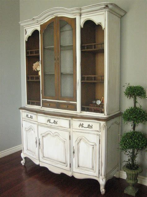 french country china cabinet european paint finishes french provincial hutch