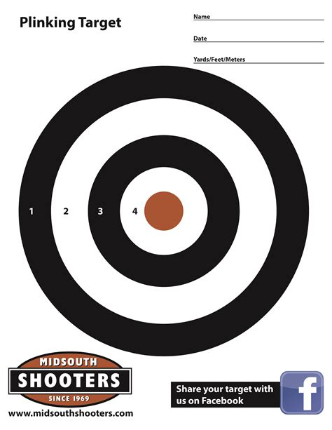 printable shooting targets printable shooting target new calendar template site