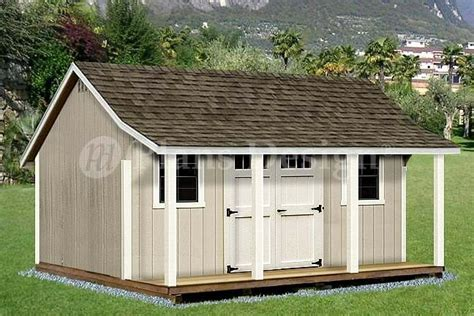 shed  porch pool house plans p
