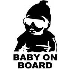 Babyaufkleber Auto Hangover by Baby On Board Car Sticker Hangover Family Decal