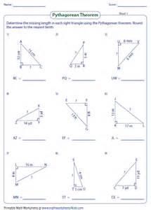 pythagorean theorem worksheets