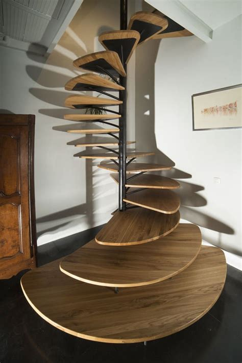 Spiral Stairs Design Oak Spiral Staircase With Metal Backbone